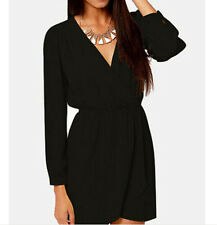 Sexy Cute Womens Chiffion V Neck Long Sleeved Mini Dresses Casual Ladie Party