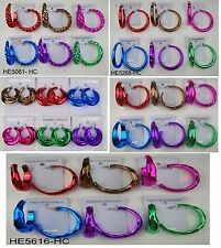 Wholesale Jewelry lots 6 pairs fashion color hoop earring  T01