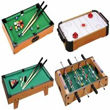 BABY MINI WOODEN TABLE TOP GAME FOOTBALL AIR HOCKEY POOL SNOOKER TOY XMAS GIFT