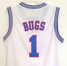 Bugs Bunny 1 Space Jam Tune Squad Basketball Jersey White S M L XL XXL