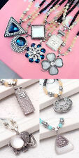 Retro Multi Style Fashion Crystal Pendant bead sweater Chain long Necklace N01