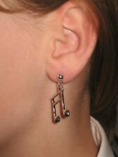 Pair MUSIC  Earrings dangle hooks or studs ***UK made*** Free 1St Class Post***