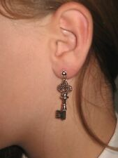 Pair KEY  Earrings dangle hooks or studs ***UK made*** Free 1St Class Post***