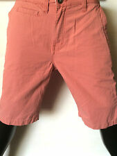 "Mens Pink Long Chino Shorts 100% Cotton Zip Fly Pockets Size 30"" 32"" 34"" 40"""