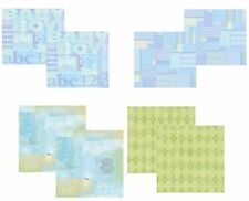 BABY BOY 12x12 Scrapbook PAPER KITS 8 Sheet Sets & Embellishments