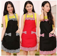 BowKnot Womens Cute Kitchen Restaurant Bib Cooking Dress with Aprons