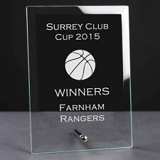Personalised Engraved Glass Plaque Trophy Award - Basketball Sports Club