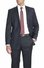 Alfani RED Slim Fit Solid Navy Blue Two Button Wool Suit