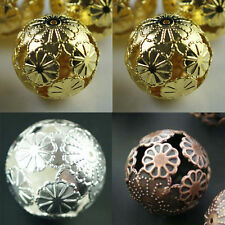 20PCS DIY Jewelry Silver/Copper/Gold Plated Round Spacer Loose Beads 20mm