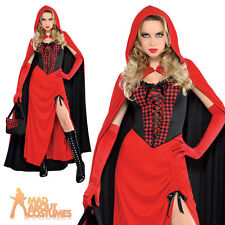 Adult Red Riding Hood Costume Sexy Enchantress Fancy Dress Ladies Outfit UK 8-20
