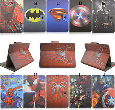 """Super Hero Series Folio Fold Cute Cartoon Leather Case Cover For 7.9"""" 8"""" Tablet"""