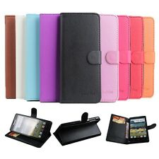 """New Leather Folio Stand Build-in Cover Case Skin For 5"""" Lenovo P780 Mobile Phone"""
