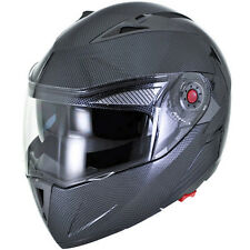 Carbon Fiber Modular Flip Up Gloss Dual Visor DOT Motorcycle Helmet - S/M/L/XL