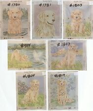 Golden Retriever, 7 Needlepoint Dog Canvas ~ Design & Hand Painted Lindy Tilp