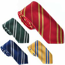 NEW Harry Potter Tie Gryffindor Slytherin Ravenclaw Hufflepuff Costume Cosplay