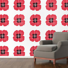 Poppy flower stencil wall decorating art craft painting reusable ideal stencils