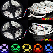 16.4FT 5050 RGB LED Strip 5M 150/300 LEDS SMD Flex Strip Light (Non)Waterproof
