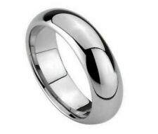 6mm Men's or Ladies High Polished Domed Tungsten carbide wedding band ring
