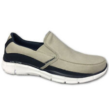 Skechers EQUALIZER POPULAR DEMAND Mens Gray Navy 51503 Slip On Memory Foam Shoes