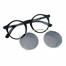 Removable Lens Sunglasses To Glasses Round Circle Keyhole Frame