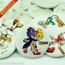Sonic Rush Adventure Tin Buttons pins badges,30MM,Round Brooch Badge Kids Gift