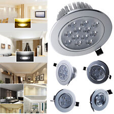 1/4x 3W 5W 7W 12W LED Recessed Ceiling Light Cabinet Kitchen Down Lamp + Driver
