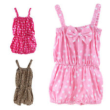 Cute Baby Girl Cotton One Piece Bloomers Summer Sleeveless Outfits Clothes 0-24M