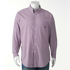 New Chaps By Ralph Lauren Men Plum Gingham Casual Button-Down Shirt Big&Tall $60