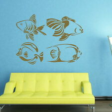 SET OF 4 TROPICAL FISH NEMO WALL ART DECAL STICKER giant tattoo picture Fi24