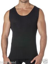 Mens Pure Merino Wool Thermal UnderWear Tank Top Black  Size S M L XL