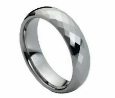 6mm Men's or Ladies Tungsten carbide Facet Cut Squares wedding band ring