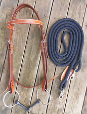 COMPLETE SNAFFLE BRIDLE and REINS - 10 COLOURS AVAILABLE - PROFESSIONALLY MADE