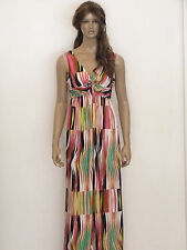 New womens multi coloured bold print summer plus size maxi dress uk 18-24