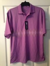 PGA TOUR GOLF SHIRTS, ONLY SIZE SMALL LEFT!!!!! ARGYLE PRINT, HYACINTH, NICE!!!!
