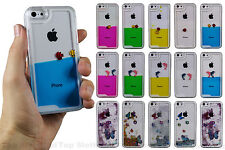 Fish Dolphin Butterfly Moving Liquid 3D Hard Case Cover For iPhone 4 5 5c 6 Plus