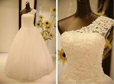 New White Ivory lace Wedding Dress Bridal Gown Ball STOCK Size 6 8 10 12 14 16