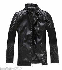 2014 NEW Men's leather motorcycle coats jackets washed leather coat 3colour