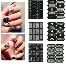 Variety Stlye Recycle Nail Art Decal Stencils Guides Full Nail Design Sticker