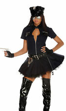 Sexy Forplay Police Playmate Cop Uniform Women's Halloween Costume Dress Navy