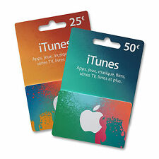 Carte iTunes France (NEUF) / iTunes France gift card (NEW)