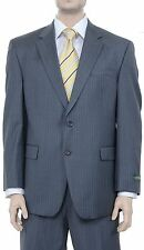 Ralph Lauren Classic Fit Charcoal Gray Striped Two Button Wool Suit