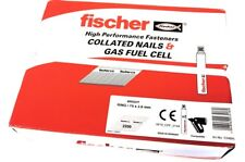 Fischer 1st First Fix Nail Fuel Packs Bright Ring Smooth Paslode IM350+ You Pick