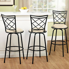3 Set Adjustable Swivel Bar Stool Counter Height Kitchen Chairs Tall Metal 30 24