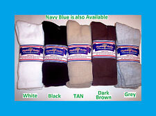 12 PAIRS NWT DIABETIC SOCKS BLACK SIZE 9-11 10-13 13-15 NON- BINDING TOP U.S.A