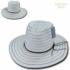 LUNADA BAY Braid Sun Summer Beach Shade Paper Straw for Women Hat Hats Wide Brim