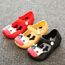 Fashion Cute Cartoon Cow Jelly Shoes Toddler Girl Summer Soft Kids Flat Sandals
