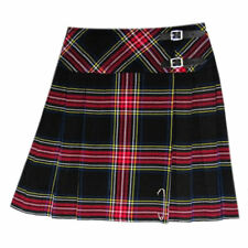 Tartanista Black Stewart 20 inch Wrap Around Knee Length Ladies Kilt Skirt 6-28