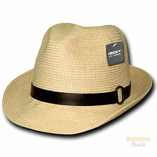 Decky New Natural Paper Braid Woven Fedora Fedoras Trilby Panama Hats Hat