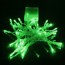 Green Battery Operated Fairy Lights String 10-50 LED Christmas Party Home 1-5m