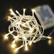 Warm White Battery Operated Fairy Lights String 10-80 LED In/Outdoor Decor 1-10m